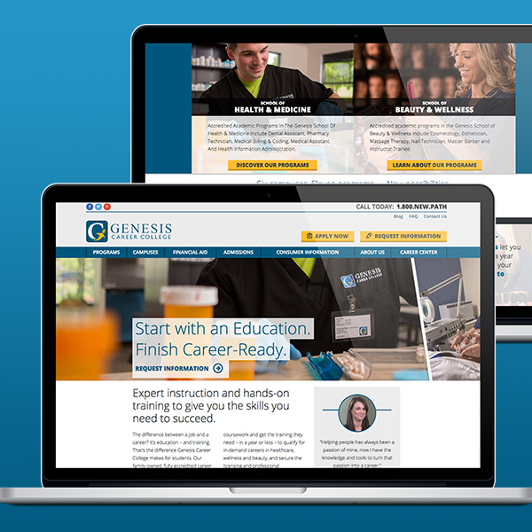 Example image for College website redesign