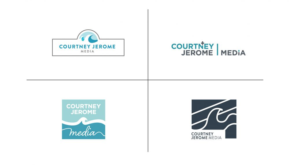 Alternative logo designs presented to the client
