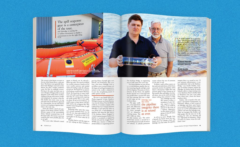 Oil Pipeline Article for Traverse Magazine - Enbridge
